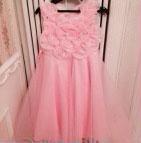 ピンクのお花のドレス